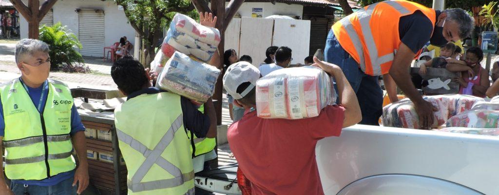 Solidariza Pecém entrega cestas básicas para comunidades carentes da região